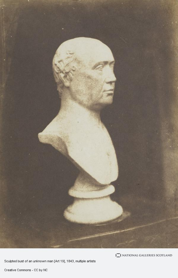 David Octavius Hill, Sculpted bust of an unknown man [Art 19]