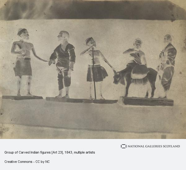 David Octavius Hill, Group of Carved Indian figures [Art 23]