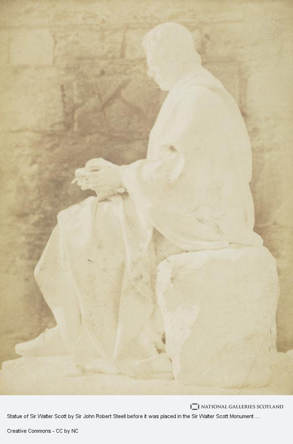 David Octavius Hill, Statue of Sir Walter Scott by Sir John Robert Steell before it was placed in the Sir Walter Scott Monument [Art 16]