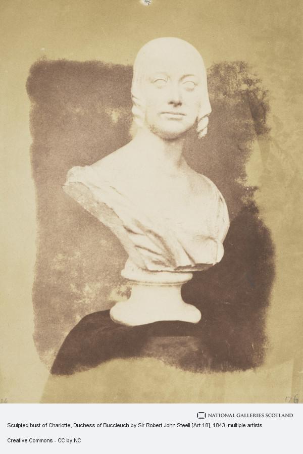 David Octavius Hill, Sculpted bust of Charlotte, Duchess of Buccleuch by Sir Robert John Steell [Art 18]