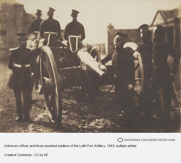 Robert Adamson, Unknown officer and three mounted soldiers of the Leith Fort Artillery