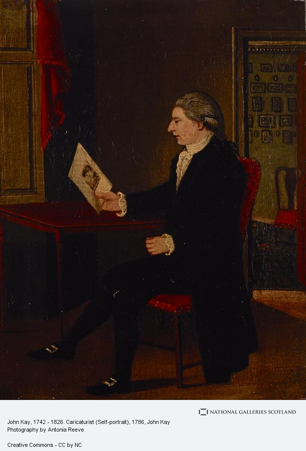 John Kay, John Kay, 1742 - 1826. Caricaturist (Self-portrait)
