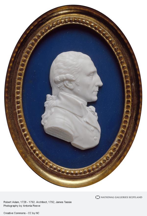 James Tassie, Robert Adam, 1728 - 1792. Architect