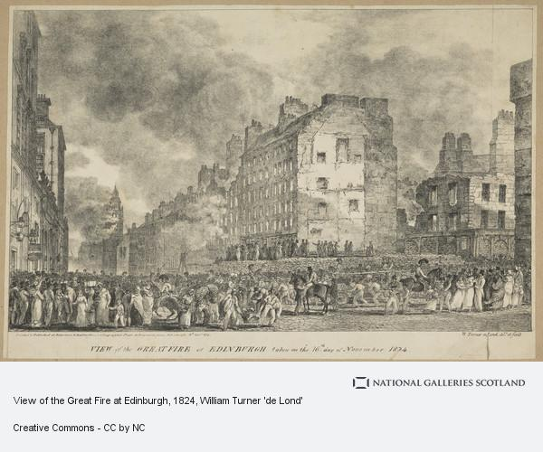 William Turner 'de Lond', View of the Great Fire at Edinburgh