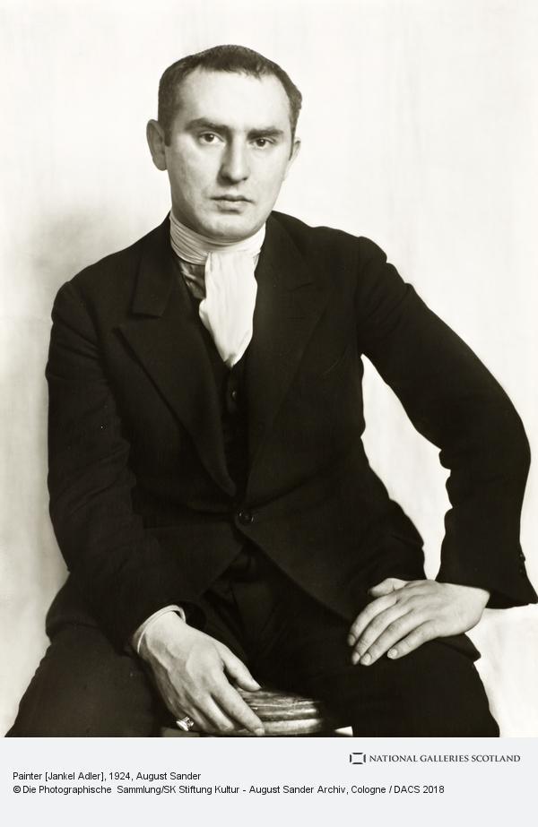 August Sander, Painter [Jankel Adler], 1924 (1924)