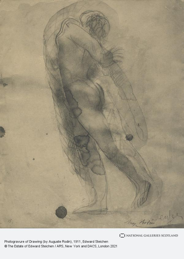 Edward Steichen, Photogravure of Drawing (by Auguste Rodin)