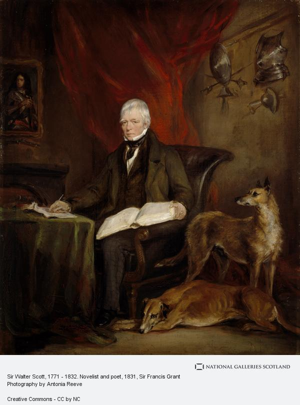 Sir Francis Grant, Sir Walter Scott, 1771 - 1832. Novelist and poet