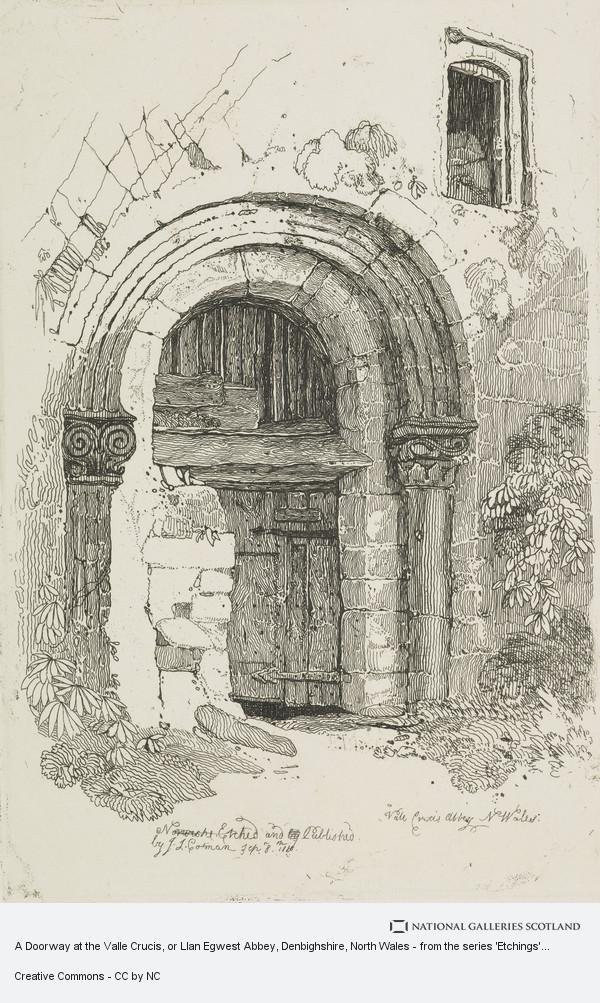 John Sell Cotman, A Doorway at the Valle Crucis, or Llan Egwest Abbey, Denbighshire, North Wales - from the series 'Etchings'