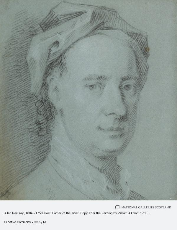Allan Ramsay, Allan Ramsay, 1684 - 1758. Poet. Father of the artist. Copy after the Painting by William Aikman
