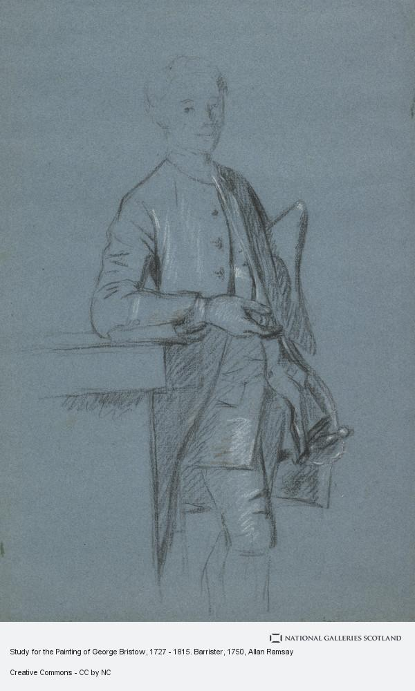 Allan Ramsay, Study for the Painting of George Bristow, 1727 - 1815. Barrister