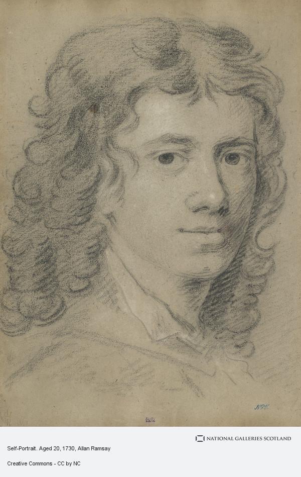 Allan Ramsay, Self-Portrait. Aged 20