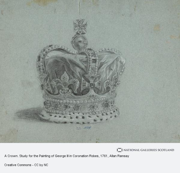 Allan Ramsay, A Crown. Study for the Painting of George III in Coronation Robes