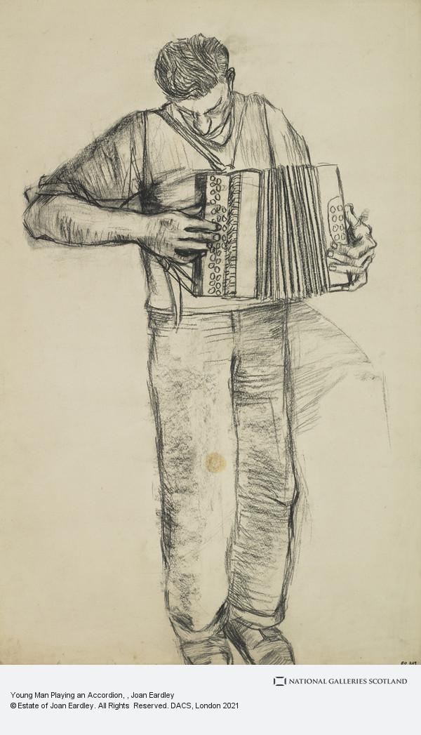 Joan Eardley, Young Man Playing an Accordion