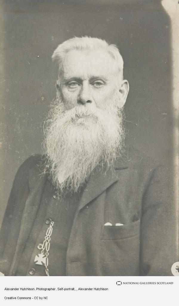 Alexander Hutchison, Alexander Hutchison. Photographer. Self-portrait