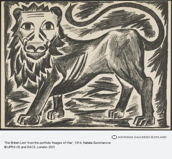 Natalya Goncharova, 'The British Lion' from the portfolio 'Images of War'