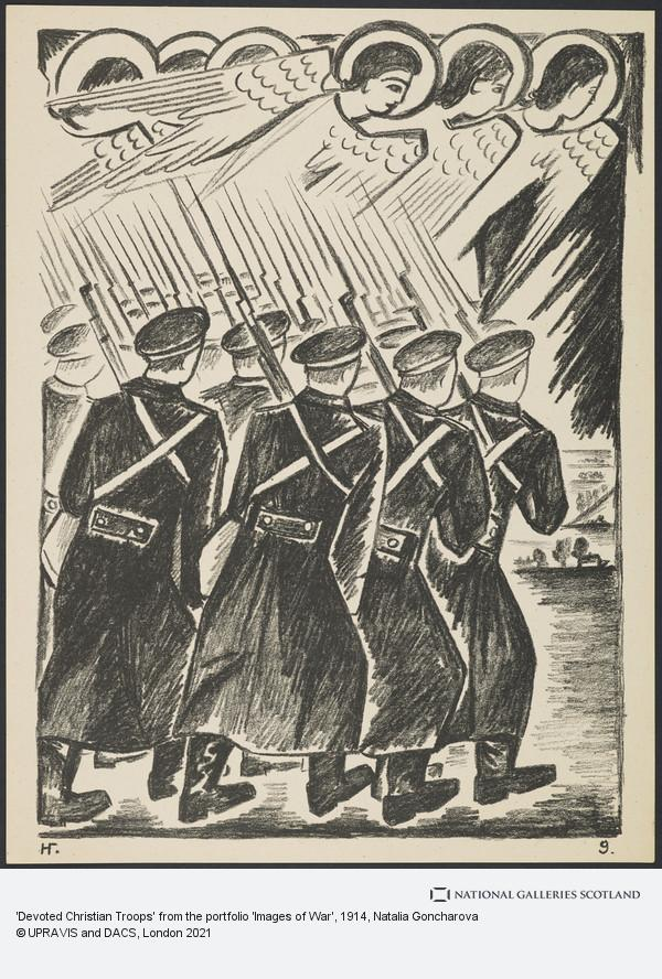 Natalia Goncharova, 'Devoted Christian Troops' from the portfolio 'Images of War'