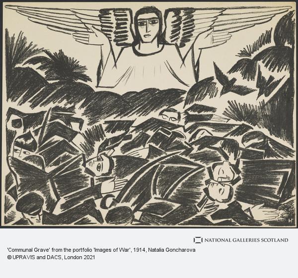 Natalya Goncharova, 'Communal Grave' from the portfolio 'Images of War'