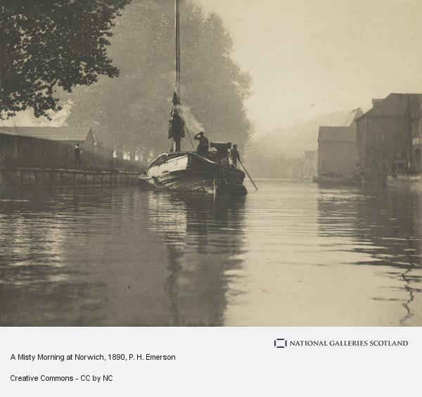 P. H. Emerson, A Misty Morning at Norwich