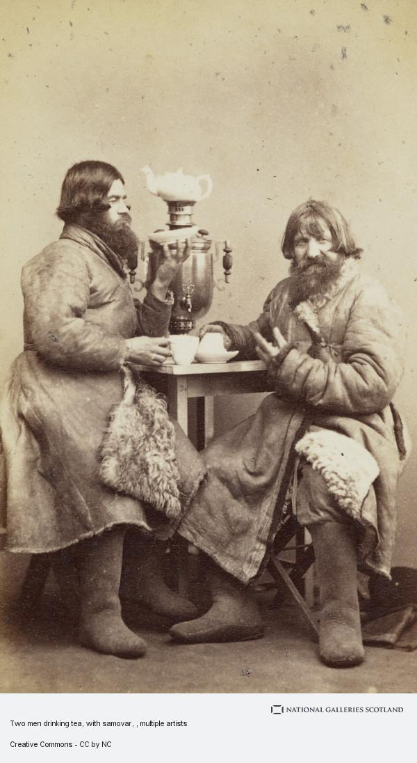 William Carrick, Two men drinking tea, with samovar