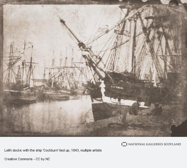 David Octavius Hill, Leith docks with the ship 'Cockburn' tied up (1843 - 1846 (printed 1991))