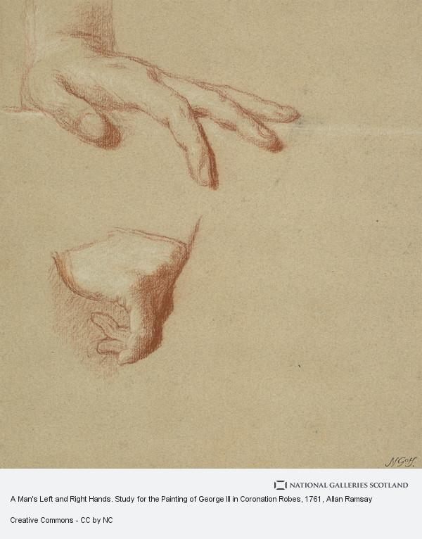 Allan Ramsay, A Man's Left and Right Hands. Study for the Painting of George III in Coronation Robes
