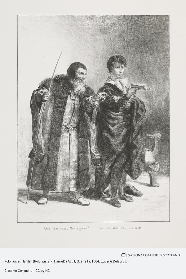 Eugene Delacroix, Polonius et Hamlet' (Polonius and Hamlet) (Act II, Scene II)