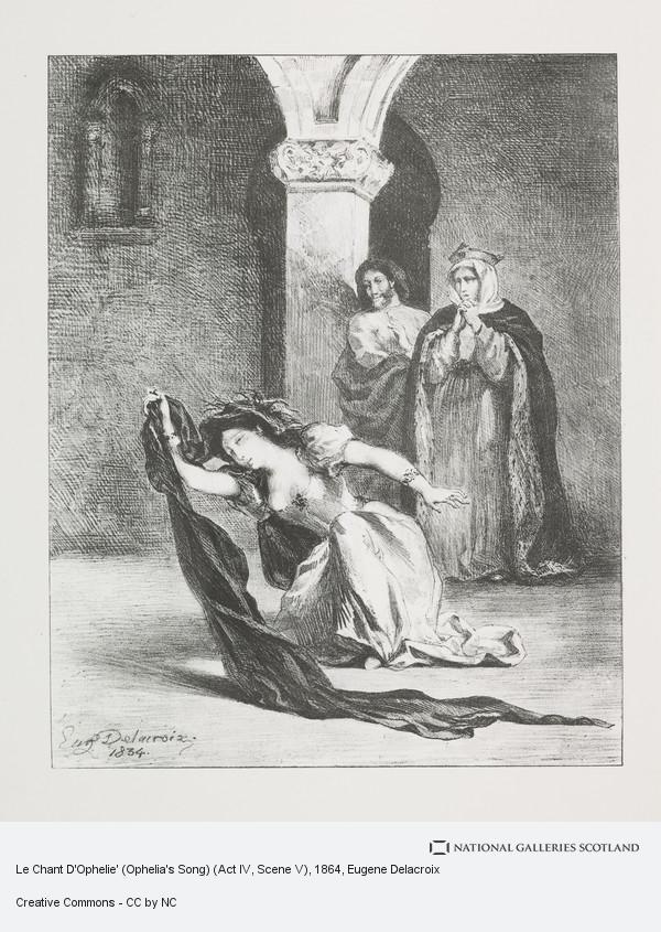 Eugene Delacroix, Le Chant D'Ophelie' (Ophelia's Song) (Act IV, Scene V)