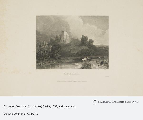 David Roberts, Crookston (inscribed Crookstone) Castle