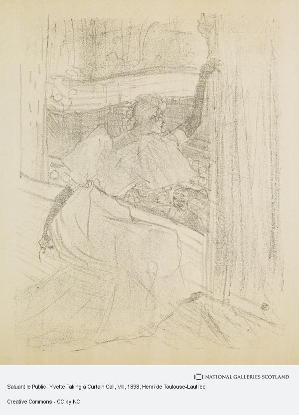 Henri de Toulouse-Lautrec, Saluant le Public. Yvette Taking a Curtain Call, VIII