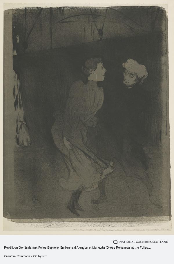 Henri de Toulouse-Lautrec, Repétition Générale aux Folies Bergère: Emilienne d'Alençon et Mariquita (Dress Rehearsal at the Folies Bergère)