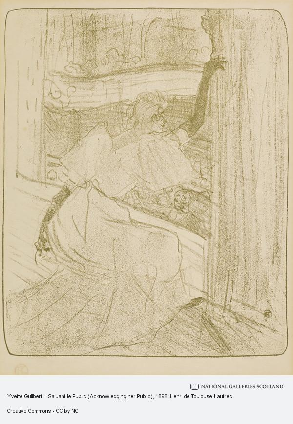 Henri de Toulouse-Lautrec, Yvette Guilbert – Saluant le Public (Acknowledging her Public)