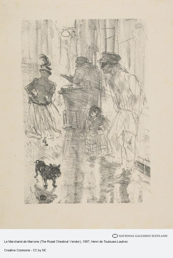 Henri de Toulouse-Lautrec, Le Marchand de Marrons (The Roast Chestnut Vendor)