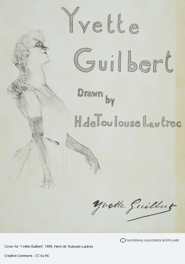 Henri de Toulouse-Lautrec, Cover for 'Yvette Guilbert'