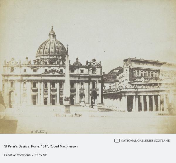 Robert Macpherson, St Peter's Basilica, Rome