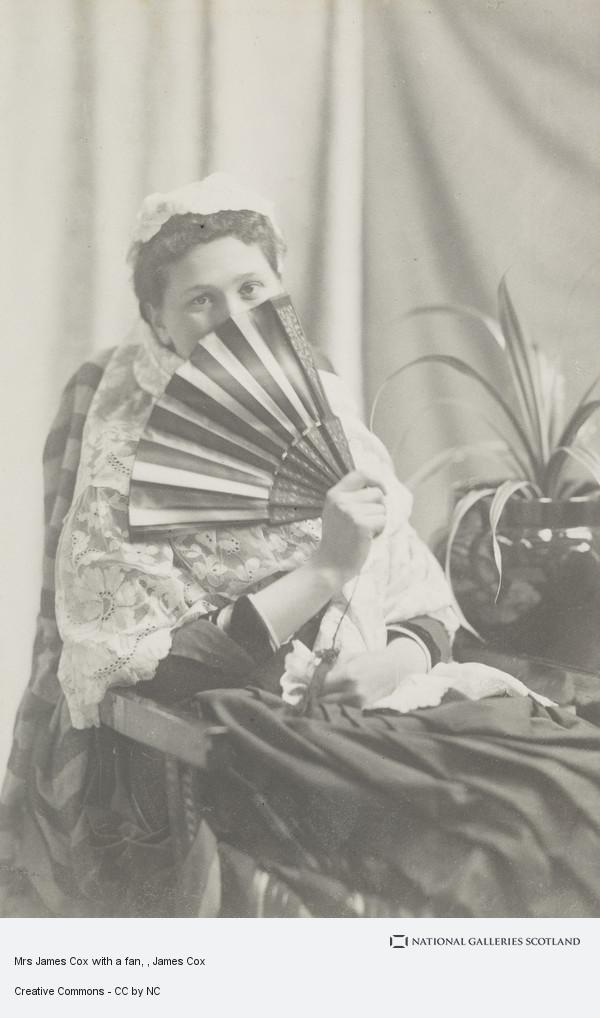 James Cox, Mrs James Cox with a fan