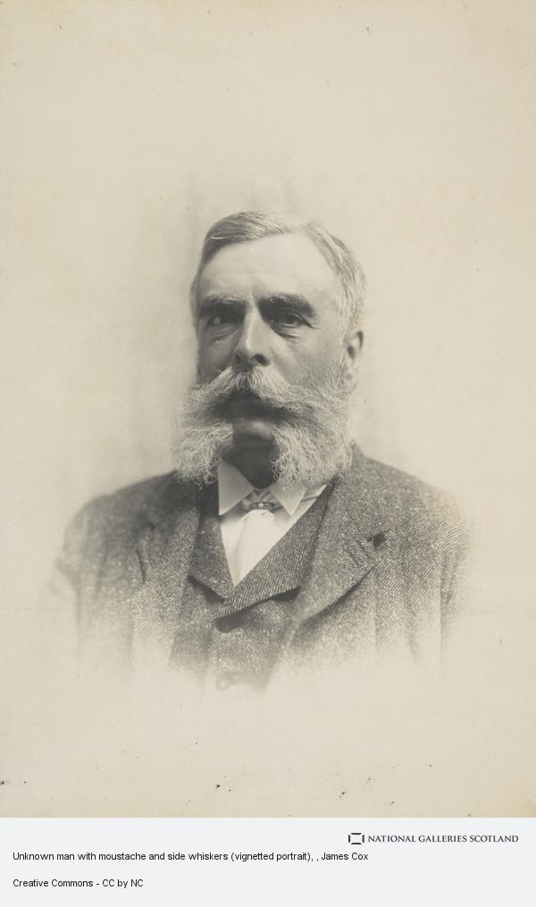 James Cox, Unknown man with moustache and side whiskers (vignetted portrait)