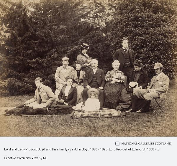 Alexander Hutchison, Lord and Lady Provost Boyd and their family (Sir John Boyd 1826 - 1895. Lord Provost of Edinburgh 1888 - 1891)