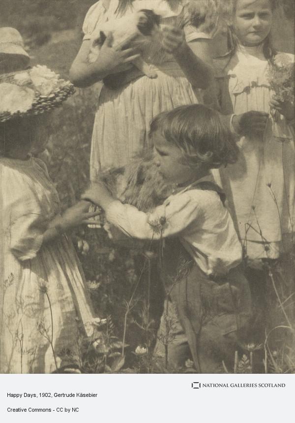 Gertrude Kasebier, Happy Days (1902)