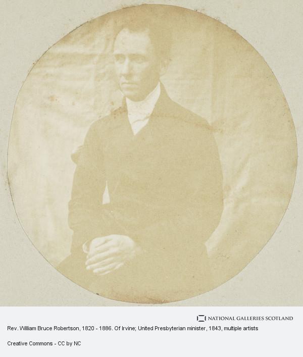 Robert Adamson, Rev. William Bruce Robertson, 1820 - 1886. Of Irvine; United Presbyterian minister