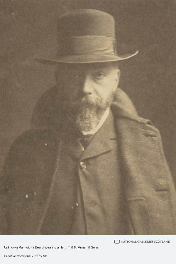 T. & R. Annan & Sons, Unknown Man with a Beard wearing a Hat