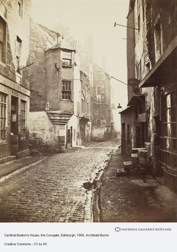 Archibald Burns, Cardinal Beaton's House, the Cowgate, Edinburgh (1868)