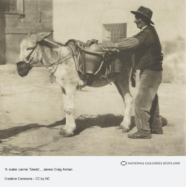 James Craig Annan, 'A water carrier Toledo'