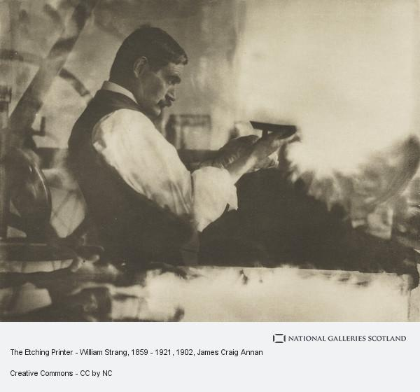 James Craig Annan, The Etching Printer - William Strang, 1859 - 1921