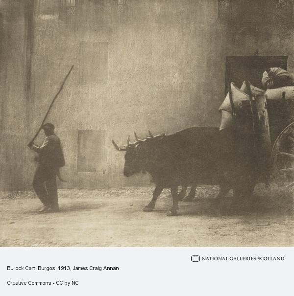 James Craig Annan, Bullock Cart, Burgos (1913)