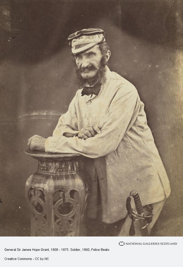 Felice Beato, General Sir James Hope Grant, 1808 - 1875. Soldier