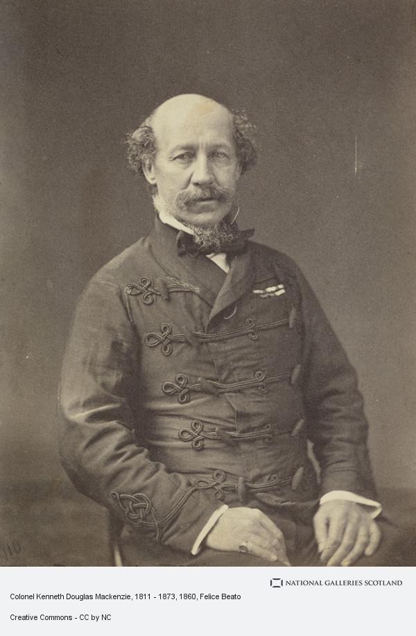 Felice Beato, Colonel Kenneth Douglas Mackenzie, 1811 - 1873