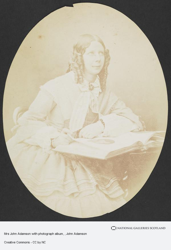 John Adamson, Mrs John Adamson with photograph album