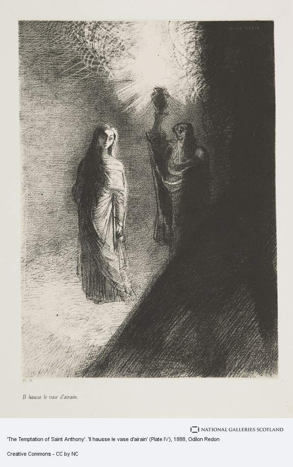 Odilon Redon, 'The Temptation of Saint Anthony'. 'Il hausse le vase d'airain' (Plate IV)