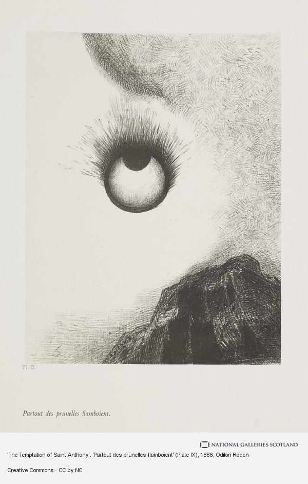 Odilon Redon, 'The Temptation of Saint Anthony'. 'Partout des prunelles flamboient' (Plate IX)