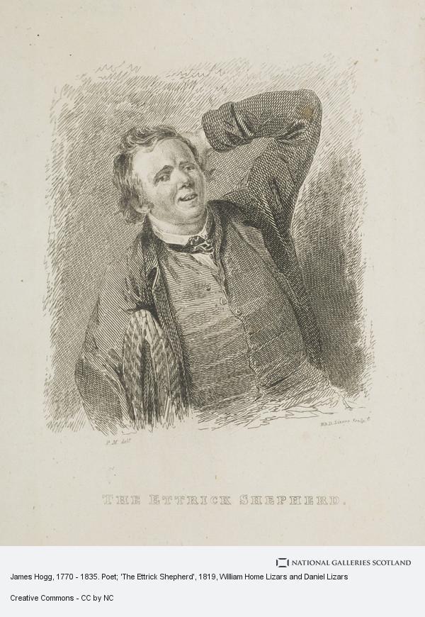 William Home Lizars and Daniel Lizars, James Hogg, 1770 - 1835. Poet; 'The Ettrick Shepherd'